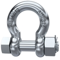Bow Shackle With Safety Pin - Load rated stamped - with certificate - 316 stainless