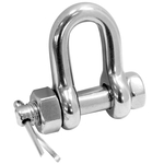 Dee shackle withsafety pin- load rated - with Certificate of loading