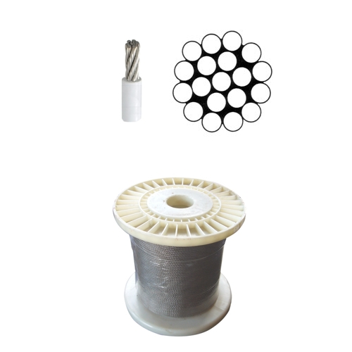 Stainless steel Wire Rope 1x19 PVC Covered