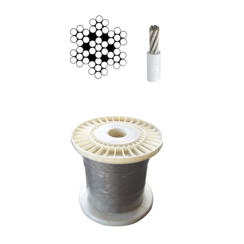 Stainless steel Wire Rope 7x7 PVC Covered