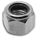 Hex nut high type nylon insert DIN982