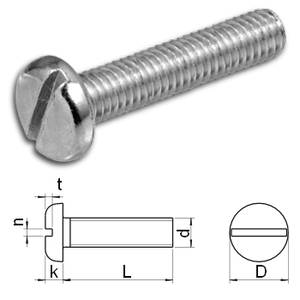 slotted pan head machine screw DIN85