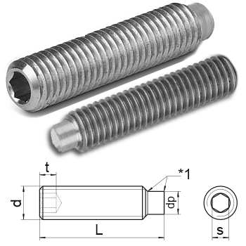 hex.socket set screws dog point DIN 915