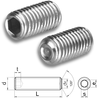 hex.socket set screws cup point DIN 916