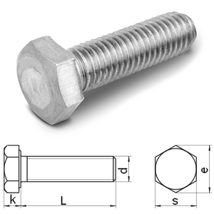 hexagon head set screws (strength 80) DIN933