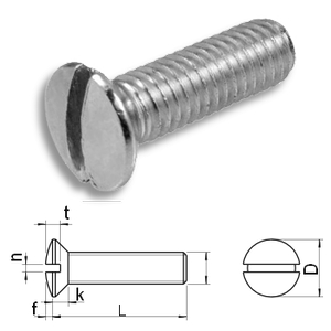 slotted raised countersunk machine screws DIN964