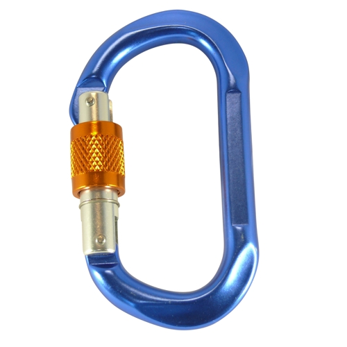 Aluminium spring hook oval shape with safety screw