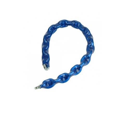 Square Link Hardened Security Chain - Blue Thermo-Wrapped Sheath - 1.5m long
