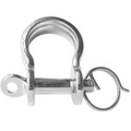 Stainless steel Bow Shackle  - Stamped (with Captive Ring)