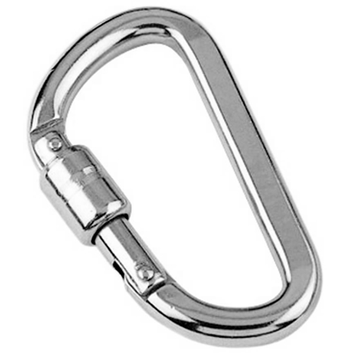 Stainless steel Spring hook with self locking sleeve