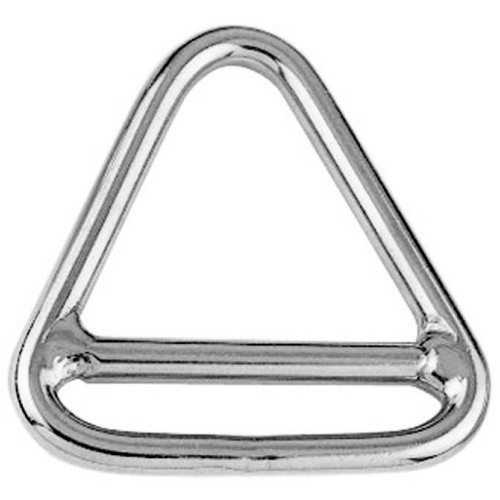Stainless Steel Triangle Ring With Cross Bar