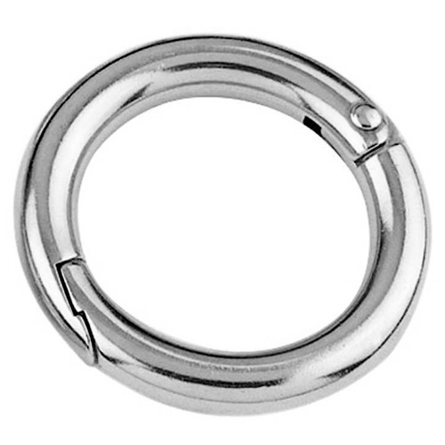 Stainless Steel Two Part Ring With Snap Fastener
